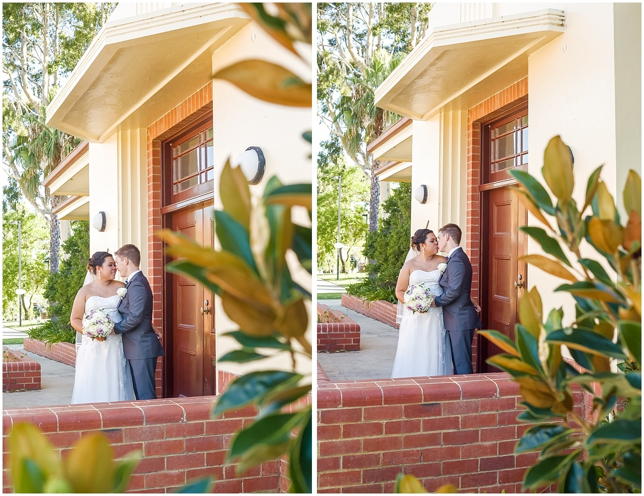Bride and groom at BWG Steakhouse and Heathcote Park Applecross