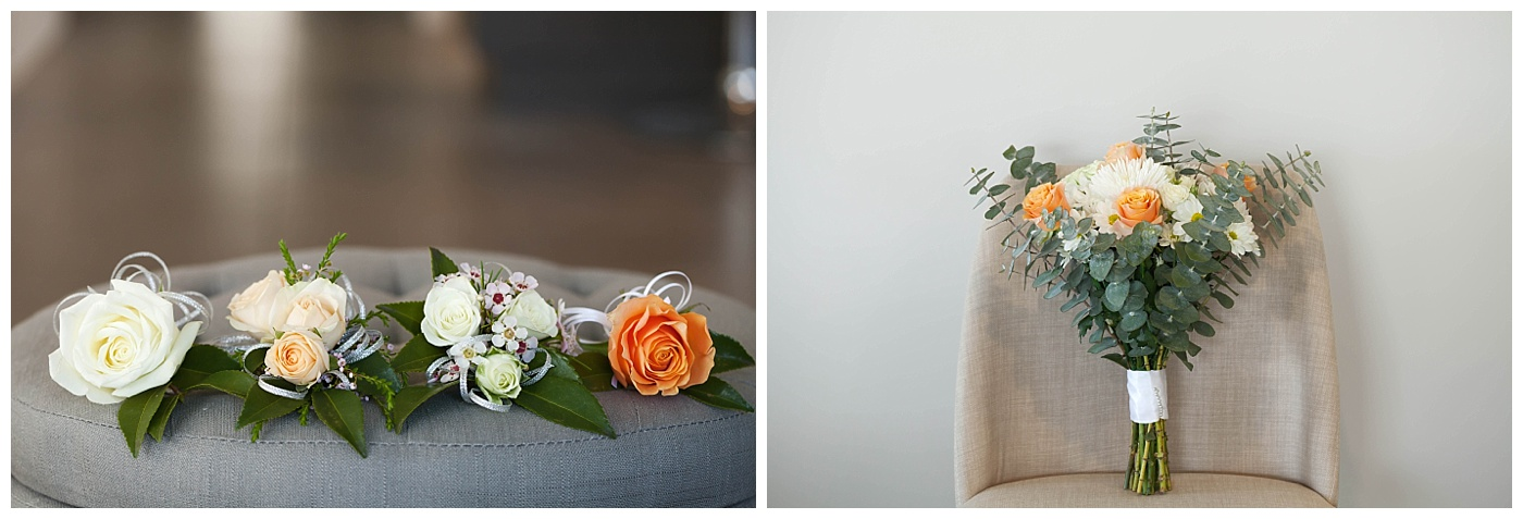 Bridal flowers and ring