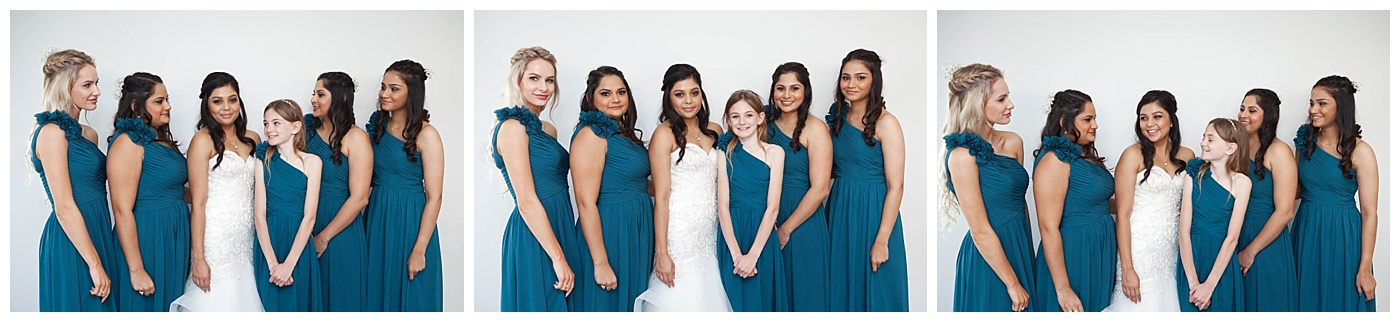 Bride and her bridesmains