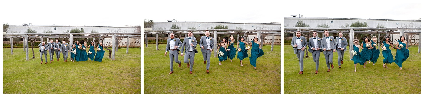 Bridal party fun at Sandalford Winery in The Swan Valley