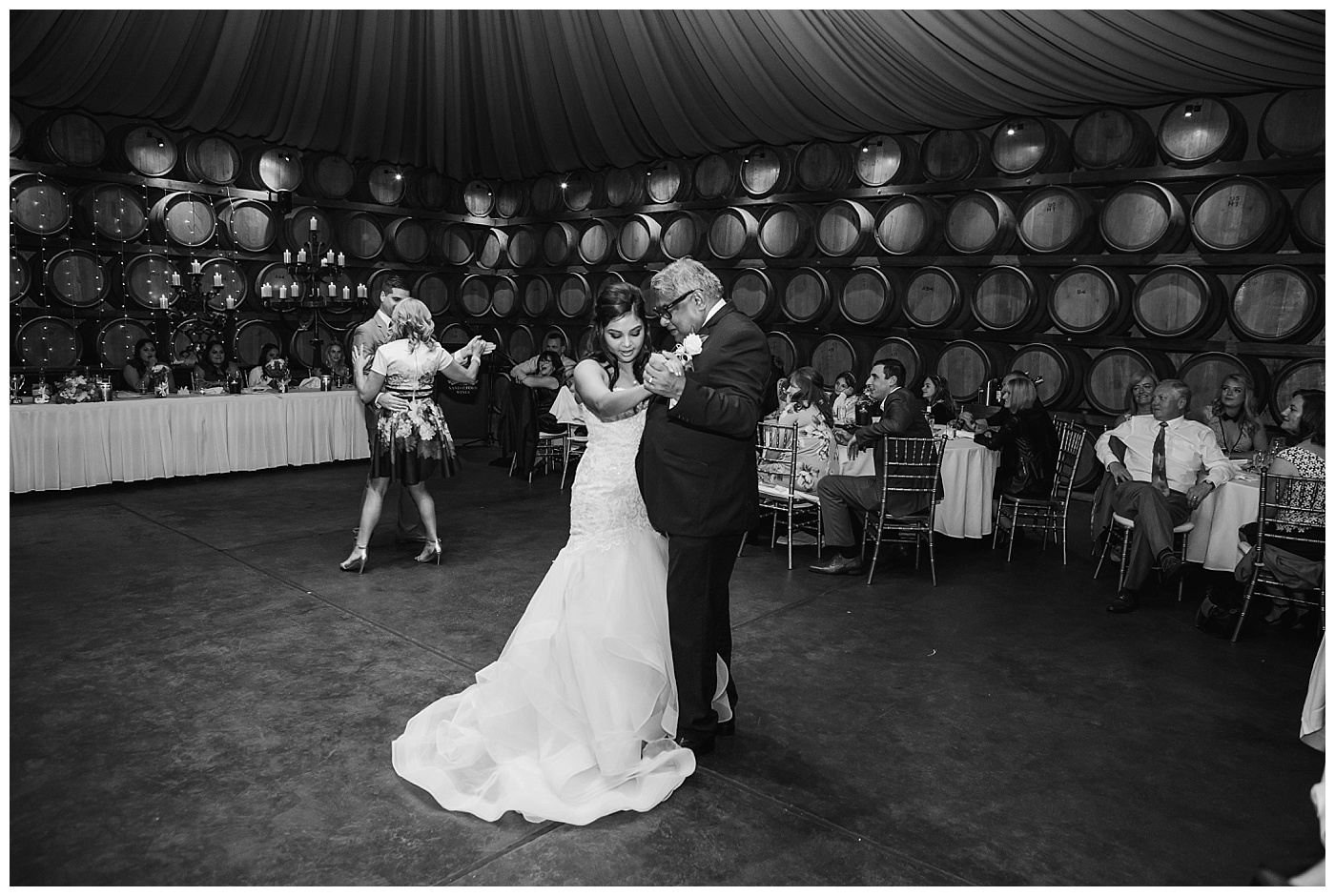 Dad and Daughter dance at Sandalford Winery in The Swan Valley