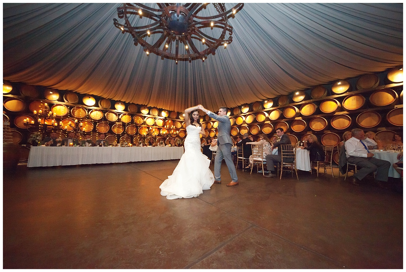 Bride and groom first dance at Sandalford Winery in The Swan Valley