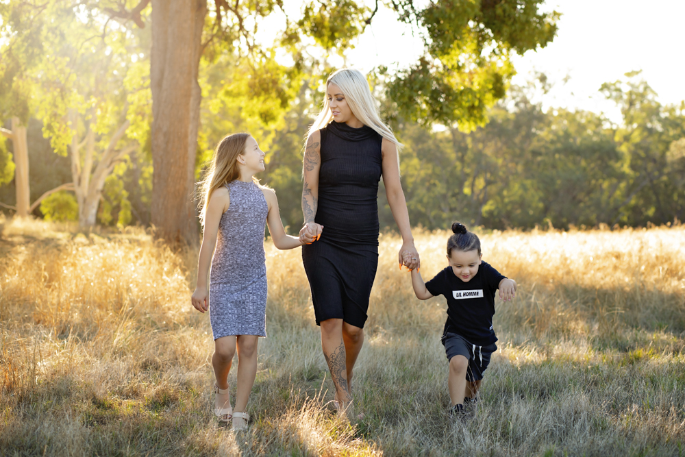 Perth family photographer sunset